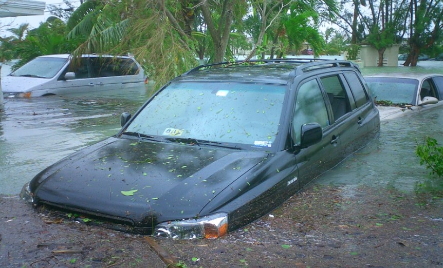 Flood Damaged car